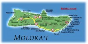 Map of Maloka'i